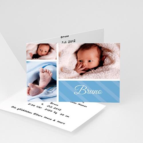Babykarten für Jungen - Sanftes Blau  1188