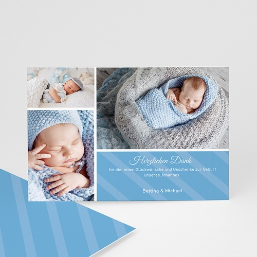 Dankeskarten Geburt Jungen - Sepp 1192