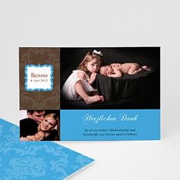 Dankeskarten Geburt Jungen - Babykarte Benno - 1