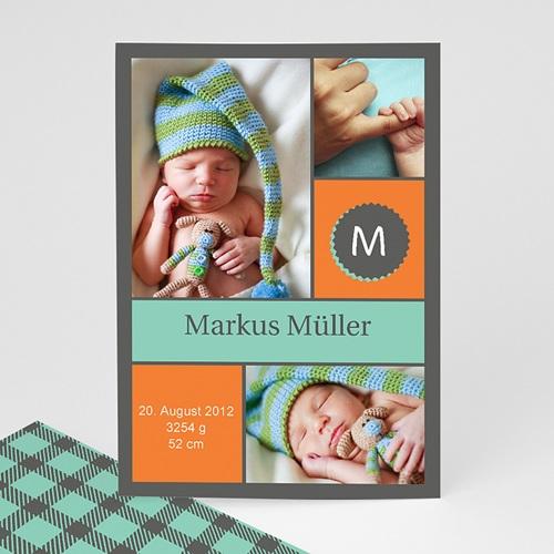 Babykarten für Jungen - Geburtskarte Markus 1248