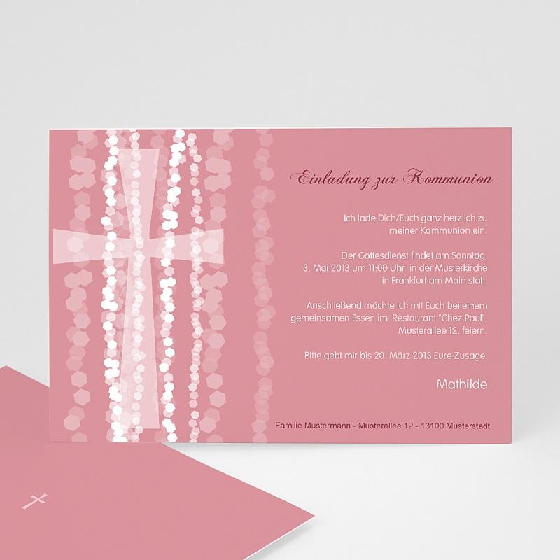 Einladungskarten Kommunion fur Mädchen Pink