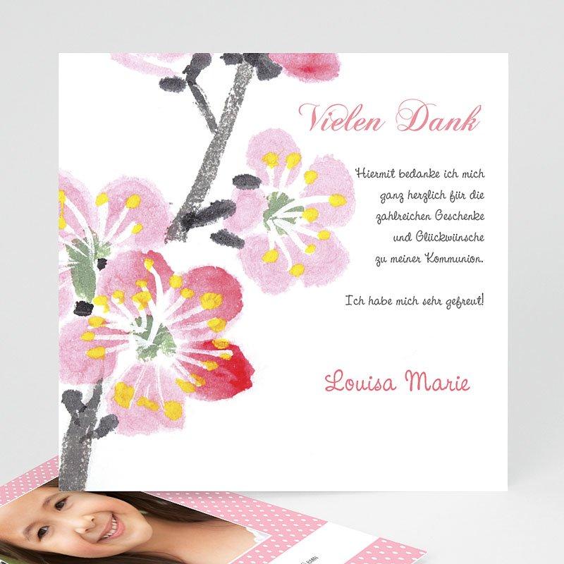 Dankeskarten Kommunion Mädchen Floral