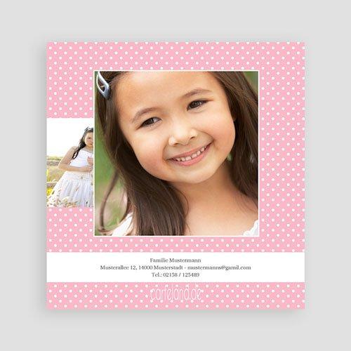 Dankeskarten Kommunion Mädchen - Floral 12561 thumb