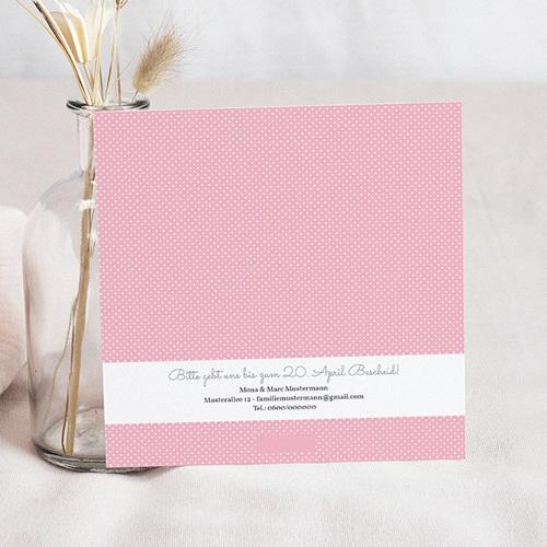 Einladungskarten Kommunion fur Mädchen Blumig floral pas cher