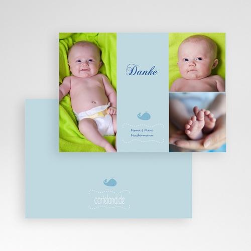 Dankeskarten Geburt Jungen - Walbaby 1257 preview