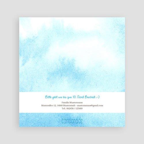 Einladungskarten Kommunion Jungen - Blauton 12579 test