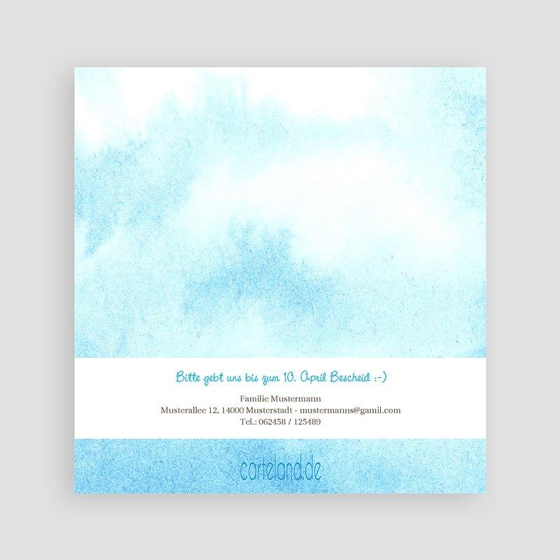 Einladungskarten Kommunion Jungen - Blauton 12579 thumb