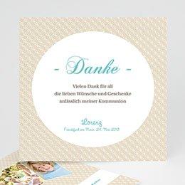 Danksagungskarten Kommunion Schlichtes Design