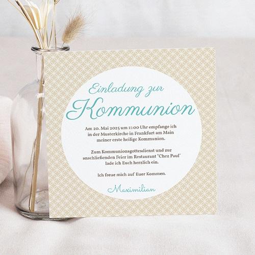 Einladungskarten Kommunion Jungen - Romantik 12590