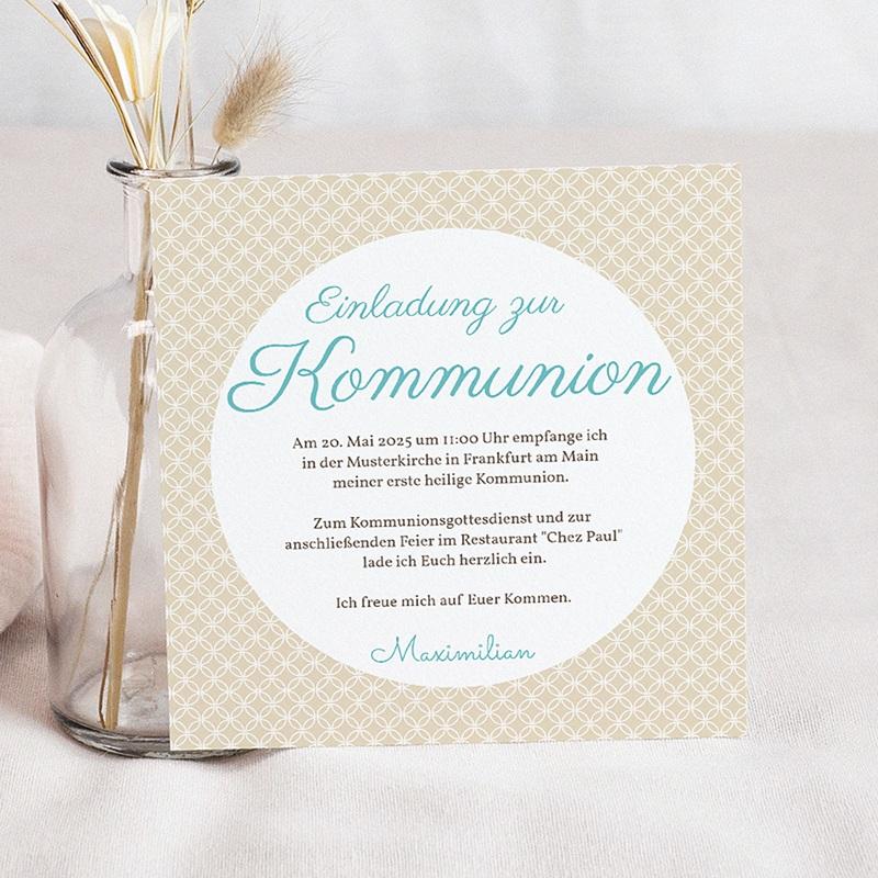 Einladungskarten Kommunion fur Jungen Romantik