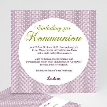 Einladungskarten Kommunion Mädchen - Einladungskarte Kommunion Ornament - 1