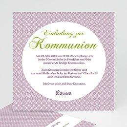 Einladungskarten Kommunion Mädchen Ornament