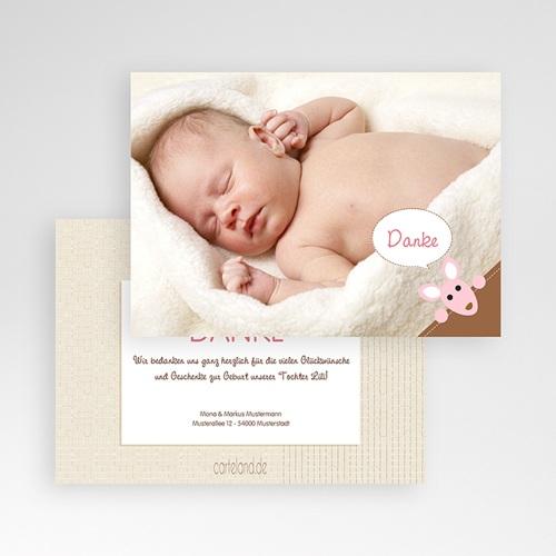 Dankeskarten Geburt Mädchen - Zoe 12609 test
