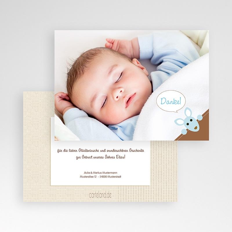Dankeskarten Geburt für Jungen Nick pas cher