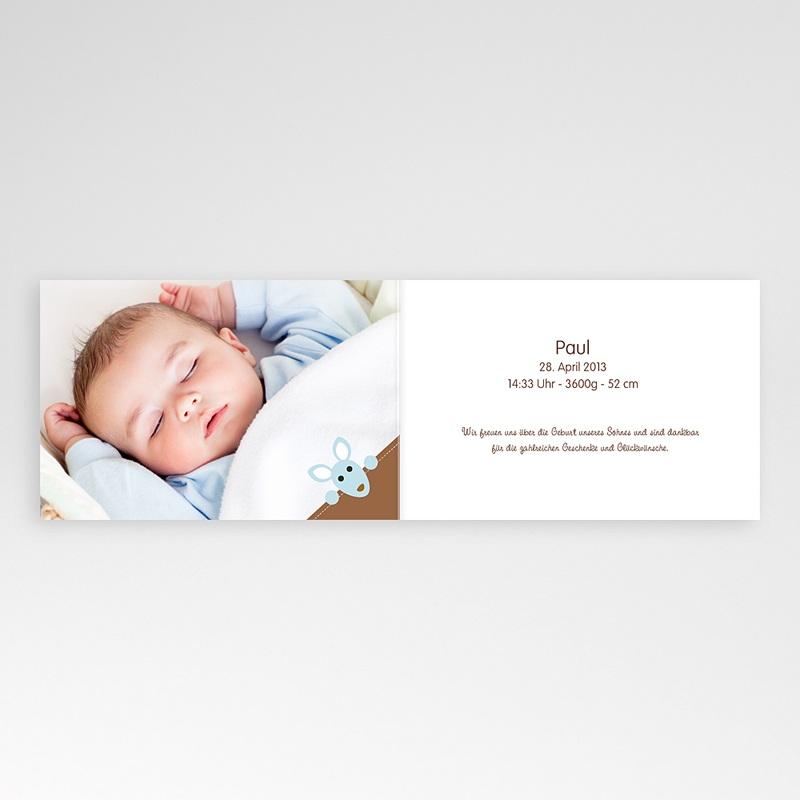 Geburtskarten für Jungen Känguru Baby pas cher