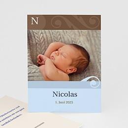 Dankeskarten Geburt Jungen Mike