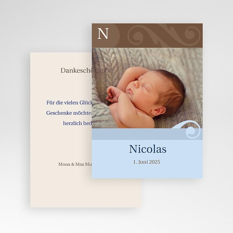 Dankeskarten Geburt Jungen Mike pas cher