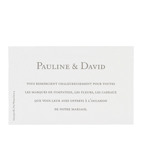 Klassische Dankeskarten Hochzeit  - Formvollendet 12685
