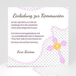 Kommunionskarte Zartrosa - 1
