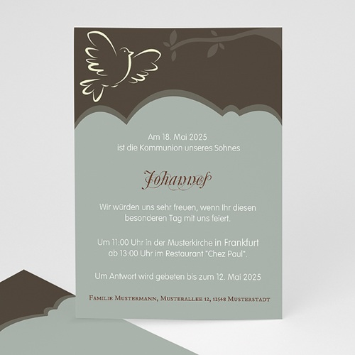 Einladungskarten Kommunion Mädchen - Symbolstark 12713 thumb