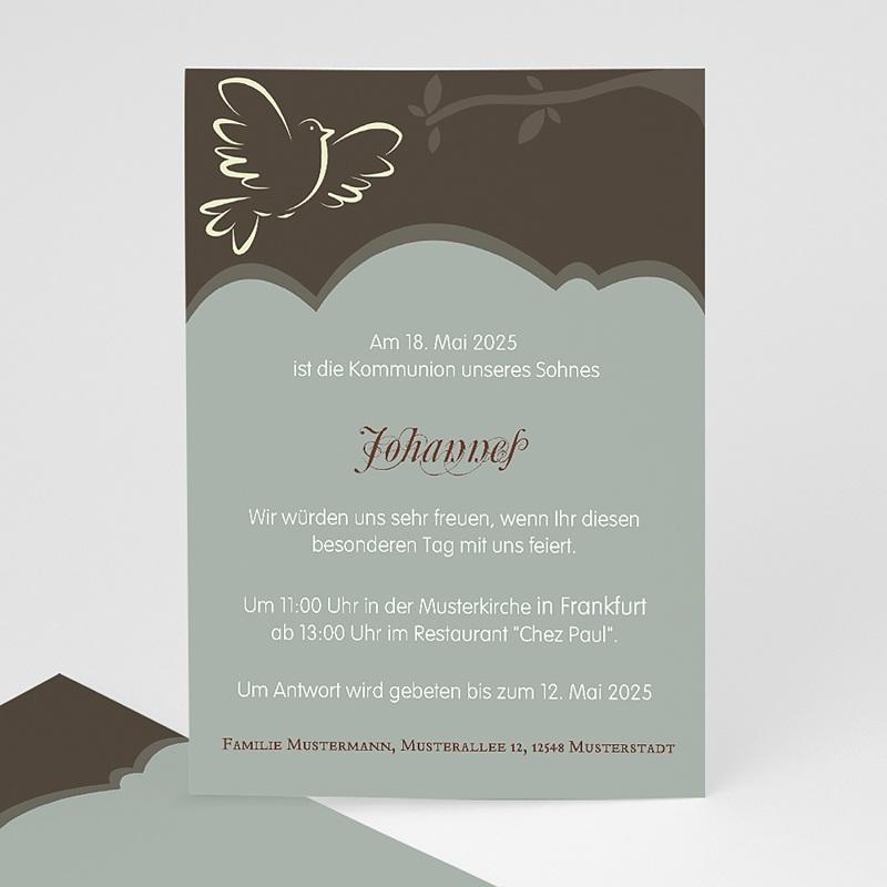 Einladungskarten Kommunion fur Mädchen Symbolstark