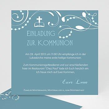Einladungskarten Kommunion Mädchen - Einladungskarte Kommunion Mädchen - 1