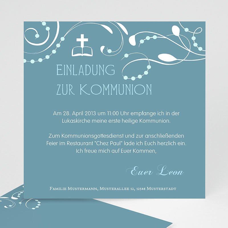Einladungskarten Kommunion Mädchen   Erstkommunion 12737 Thumb ...