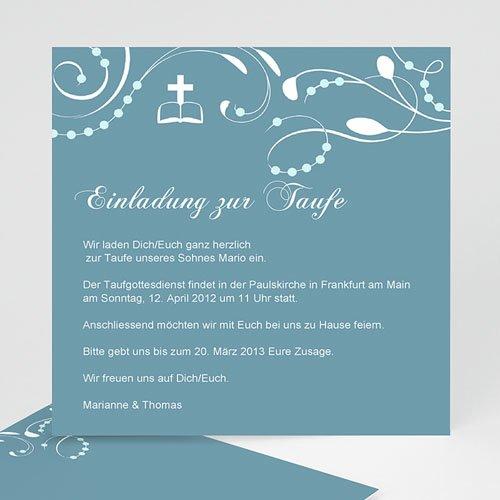 Einladungskarten Taufe Jungen  - Jannik 12755 test