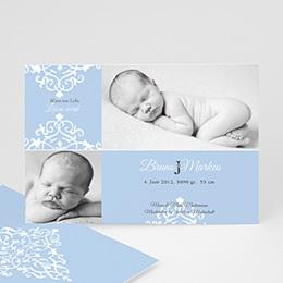 Karten Geburt Design Royal - Blau