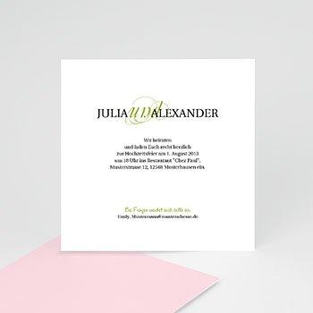 Einlegekarte individuell - Hochzeitskarte Frühling - 1