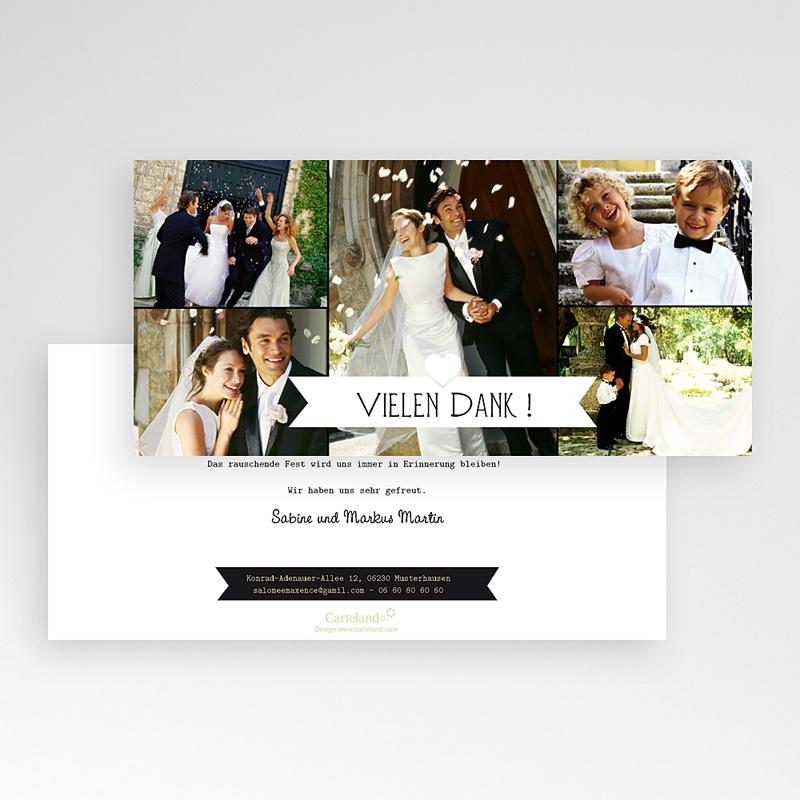 Danksagungskarten Hochzeit  Gondel pas cher