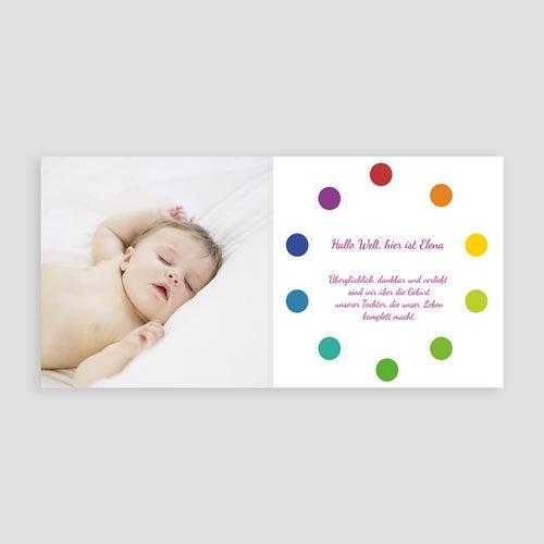 Geburtskarten für Mädchen - Punktvoll 12882 preview