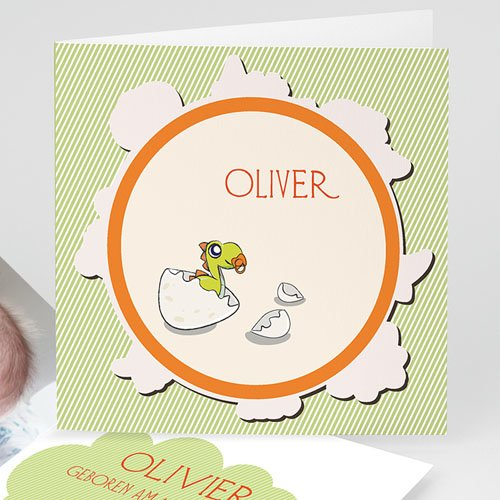 Geburtskarten für Jungen Kleiner Dino