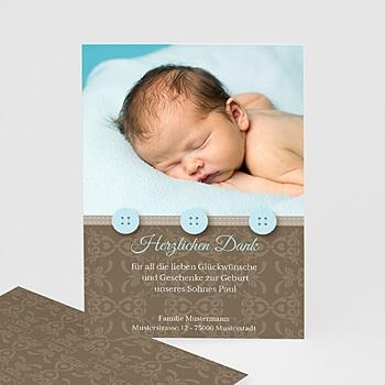 Dankeskarten Geburt Jungen - Geburtskarte Benno - 1