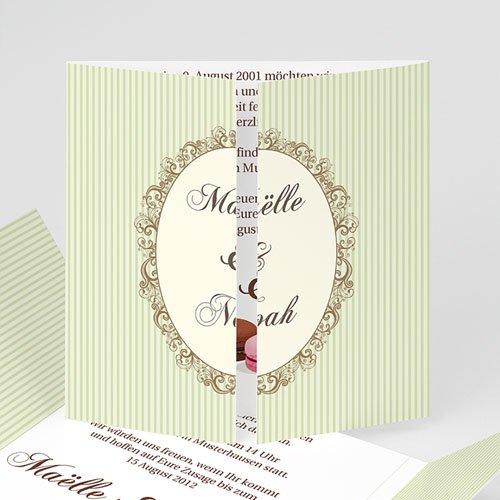 Hochzeitseinladungen modern - 100% Natur 1300