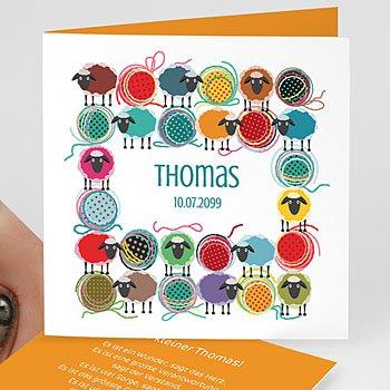 Geburtskarten selbst gestalten  - Moutons pelotes - 1