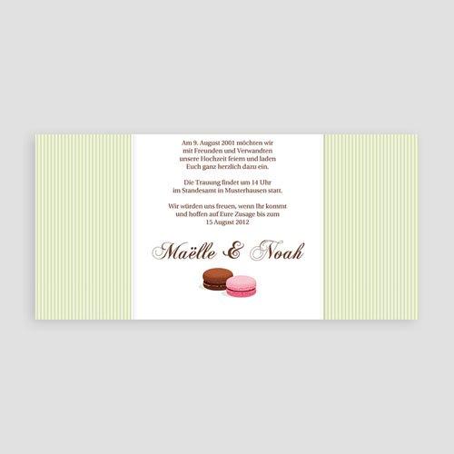 Hochzeitseinladungen modern - Sweet cake 1301 test