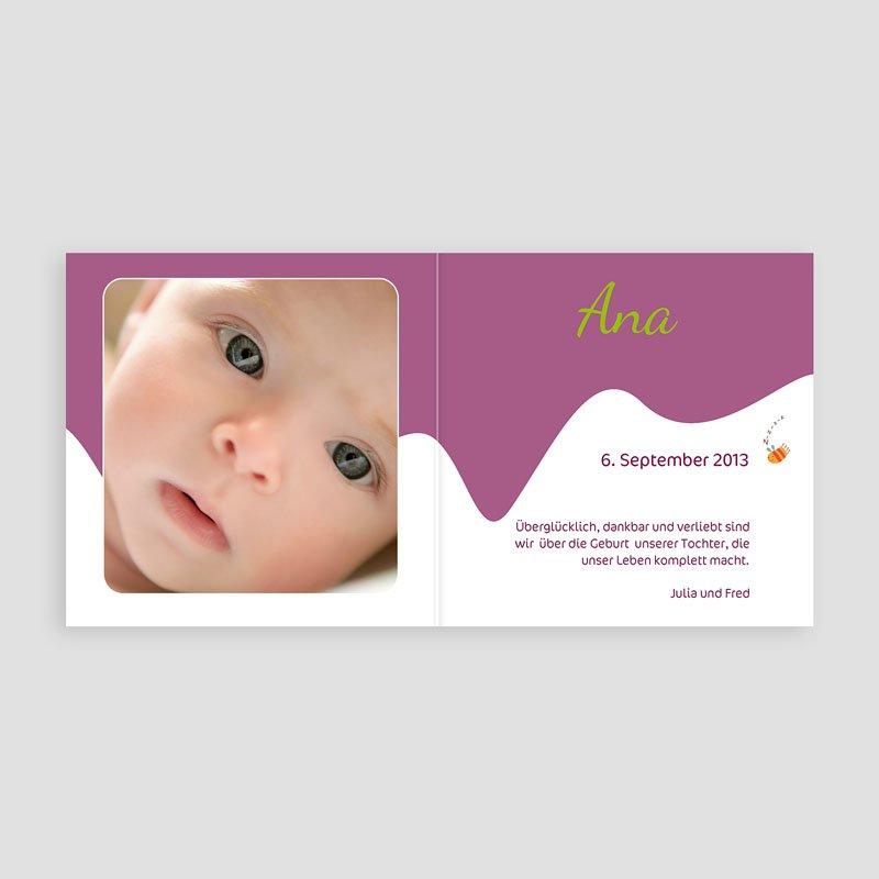 Geburtskarten für Mädchen - Vogelnest 13011 thumb