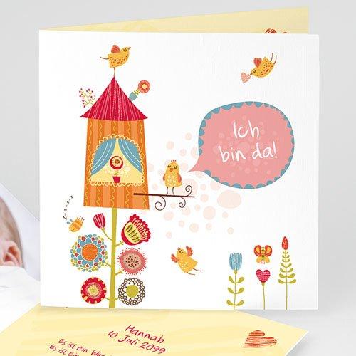 Geburtskarten für Mädchen - Nest 13020