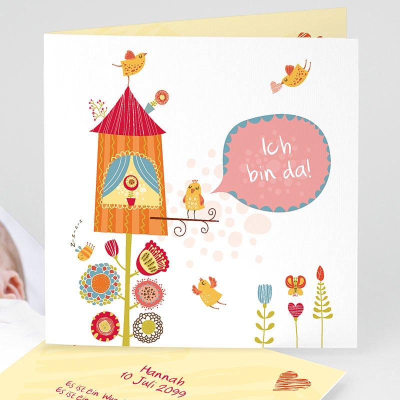 Geburtskarten für Mädchen Nest