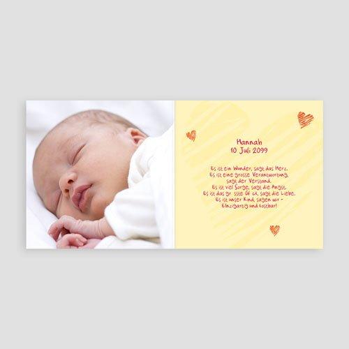 Geburtskarten für Mädchen Nest pas cher