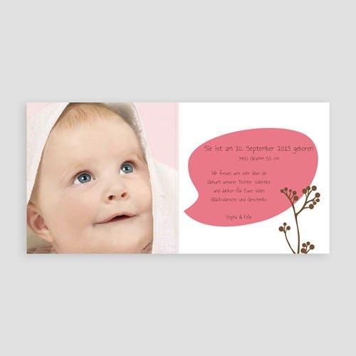 Geburtskarten für Mädchen Pip Pip- Rosa pas cher