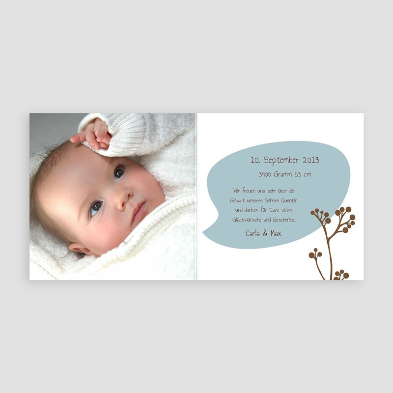 Geburtskarten für Jungen Vogelgezwitscher pas cher