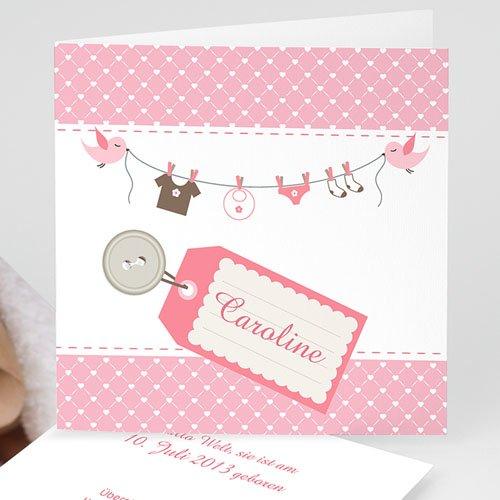 Geburtskarten für Mädchen - Babywäsche 13121