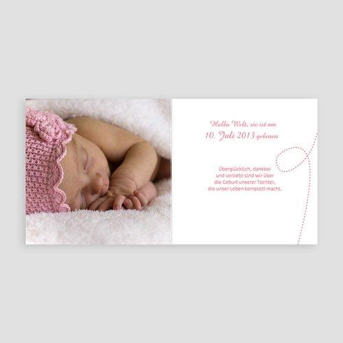 Geburtskarten für Mädchen - Babywäsche 13122 preview