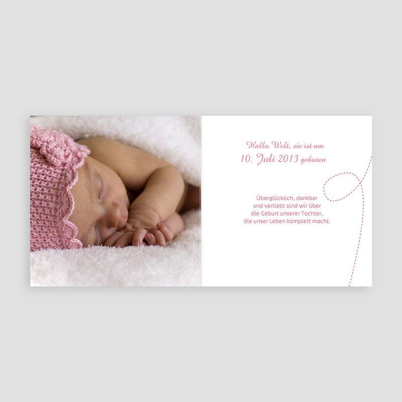 Geburtskarten für Mädchen Babywäsche pas cher