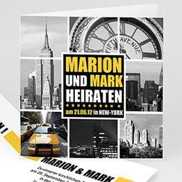 Karten Hochzeit New York City