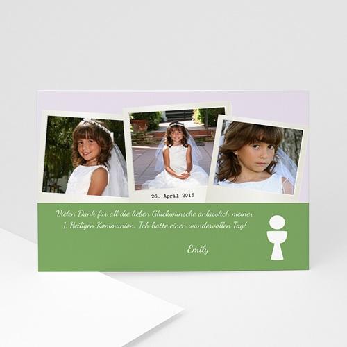 Dankeskarten Kommunion Mädchen Polafotos