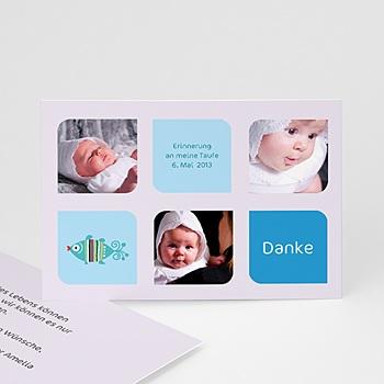 Dankeskarten Taufe Jungen - Multifoto - 1