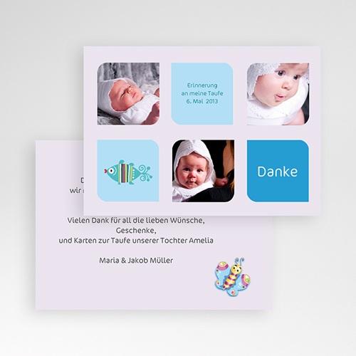 Dankeskarten Taufe Jungen Mehrfachfoto pas cher